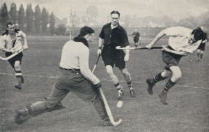 Action from the OC game at Cheam in October 1939, the last game before the club went into hibernation for the war.
